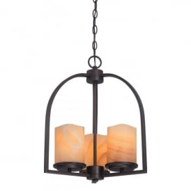 Quoizel Aldora 3 Light Ceiling Pendant In Palladian Bronze Finish