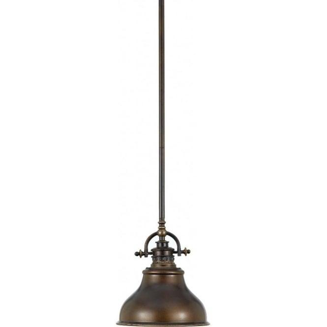 elstead lighting quoizel emery single light mini pendant in