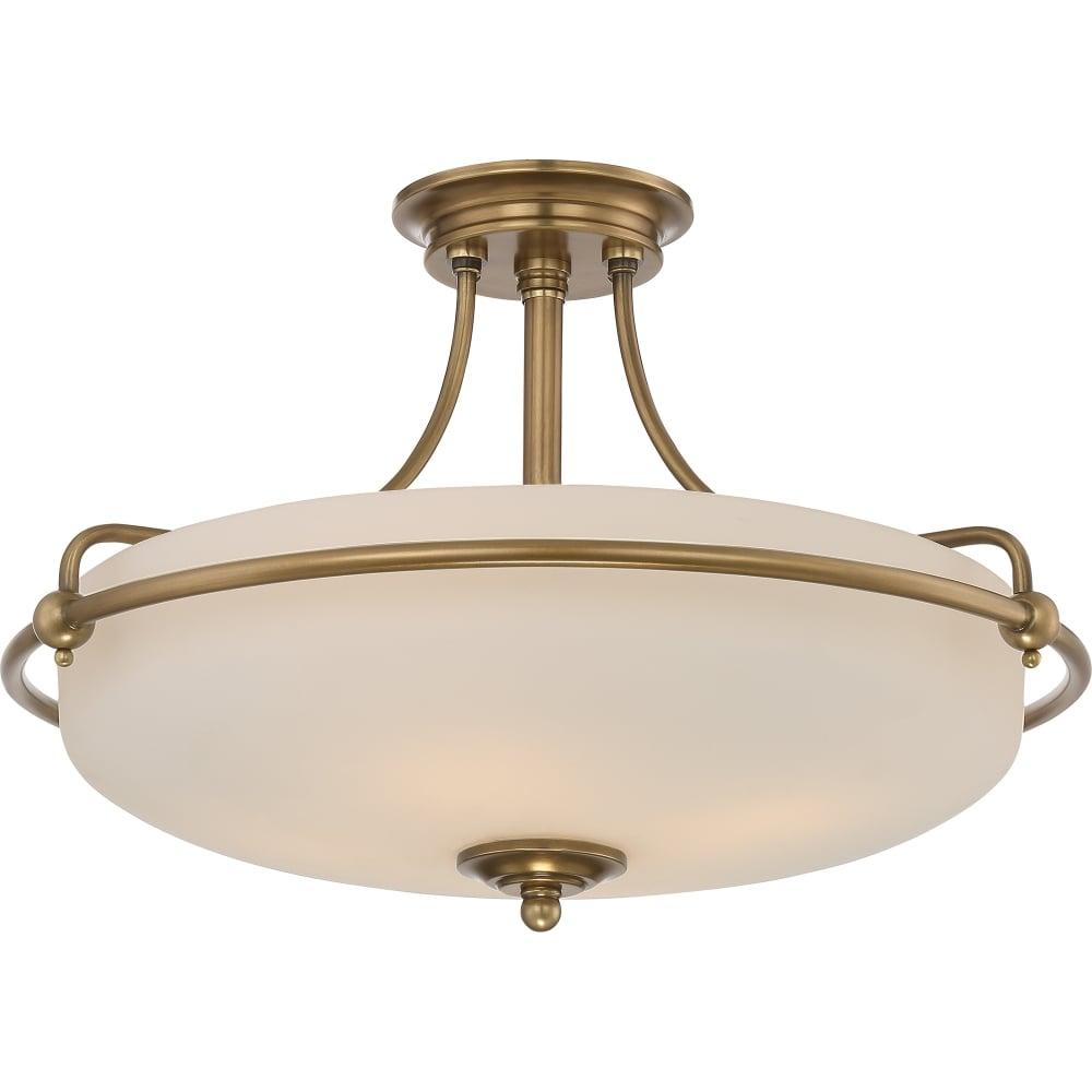 Brass Finish Ceiling Lights : Elstead lighting quoizel griffin light semi flush