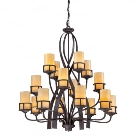 Quoizel Kyle 16 Light Ceiling Pendant In Imperial Bronze Finish