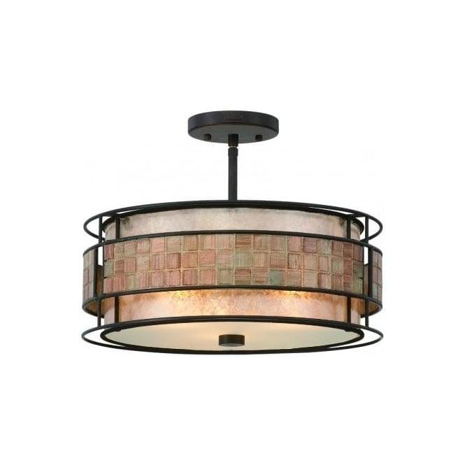 elstead lighting quoizel laguna 3 light ceiling fitting in