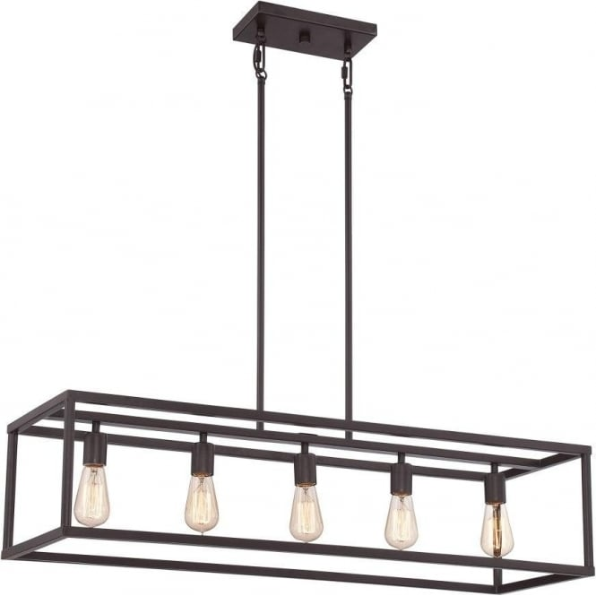 Elstead lighting quoizel new harbor 5 light island pendant in a quoizel new harbor 5 light island pendant in a western bronze finish aloadofball Gallery