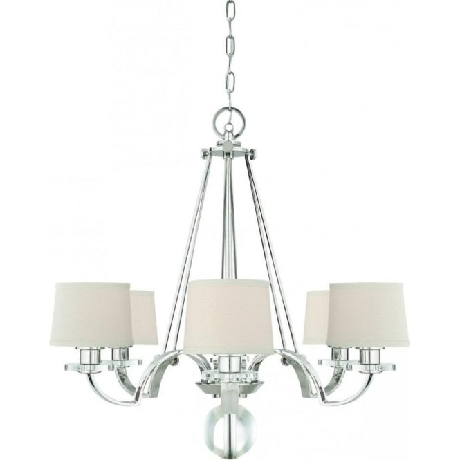 Elstead lighting quoizel sutton place 6 light chandelier in imperial silver with fabric shades quoizel sutton place 6 light chandelier in imperial silver with fabric shades aloadofball Gallery