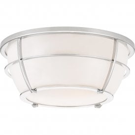 QZ/CHANCE/F PC Quoizel Chance 2 Light Flush Bathroom Ceiling Fitting in Polished Chrome Finish