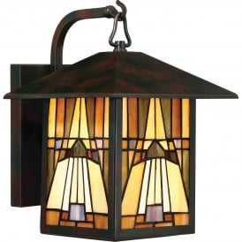 QZ/INGLENOOK2/M Quoizel Inglenook Single Light Outdoor Wall Lantern in Valiant Bronze Finish