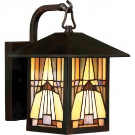 QZ/INGLENOOK2/S Quoizel Inglenook Single Light Small Outdoor Wall Lantern in Valiant Bronze Finish