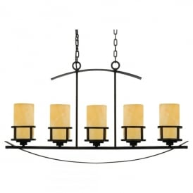 QZ/KYLE5/ISLE Quoizel Kyle 5 Light Island Ceiling Pendant In Imperial Bronze Finish