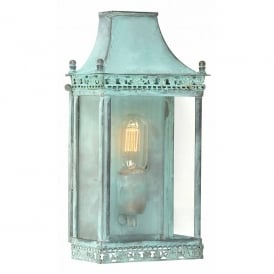 REGENTS PARK V Regents Park Single Light Solid Brass Outdoor Lantern in Verdigris