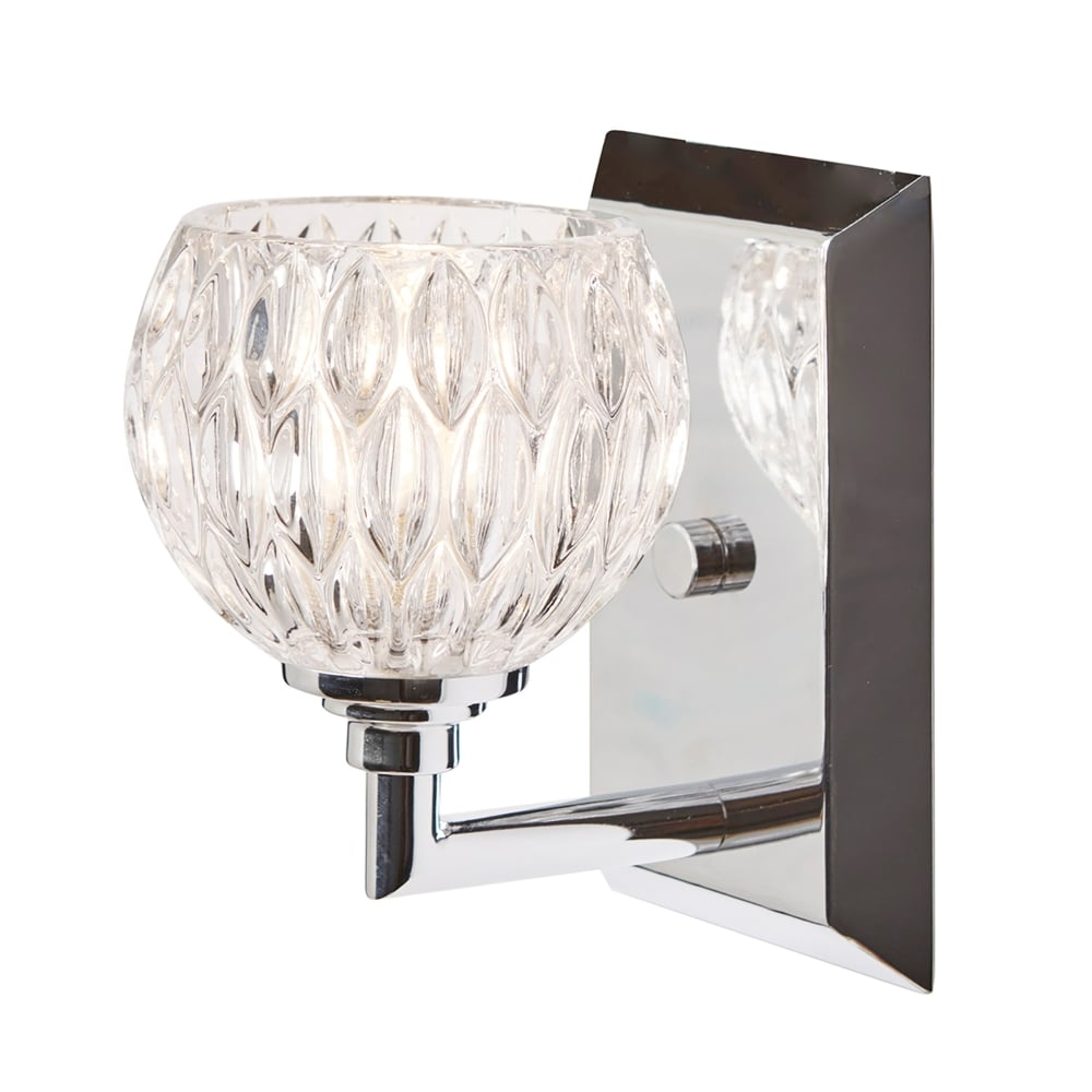 Elstead Lighting Serena Single Light Bathroom Wall Fitting In Polished Chrome Finish Complete