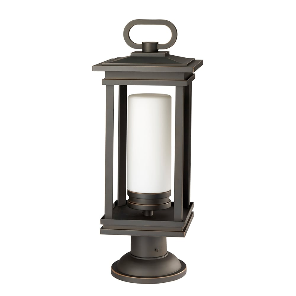 elstead lighting south hope single light outdoor pedestal fitting in