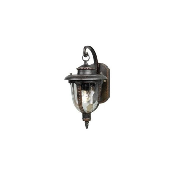 Elstead Lighting St Louis Medium Single Light Outdoor Wall Lantern in Weathered Bronze