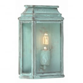 ST MARTINS V St Martins Single Light Solid Brass Outdoor Lantern in Verdigris