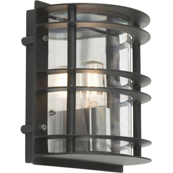 Elstead lighting stockholm outdoor wall light in black finish stockholm outdoor wall light in black finish mozeypictures Gallery