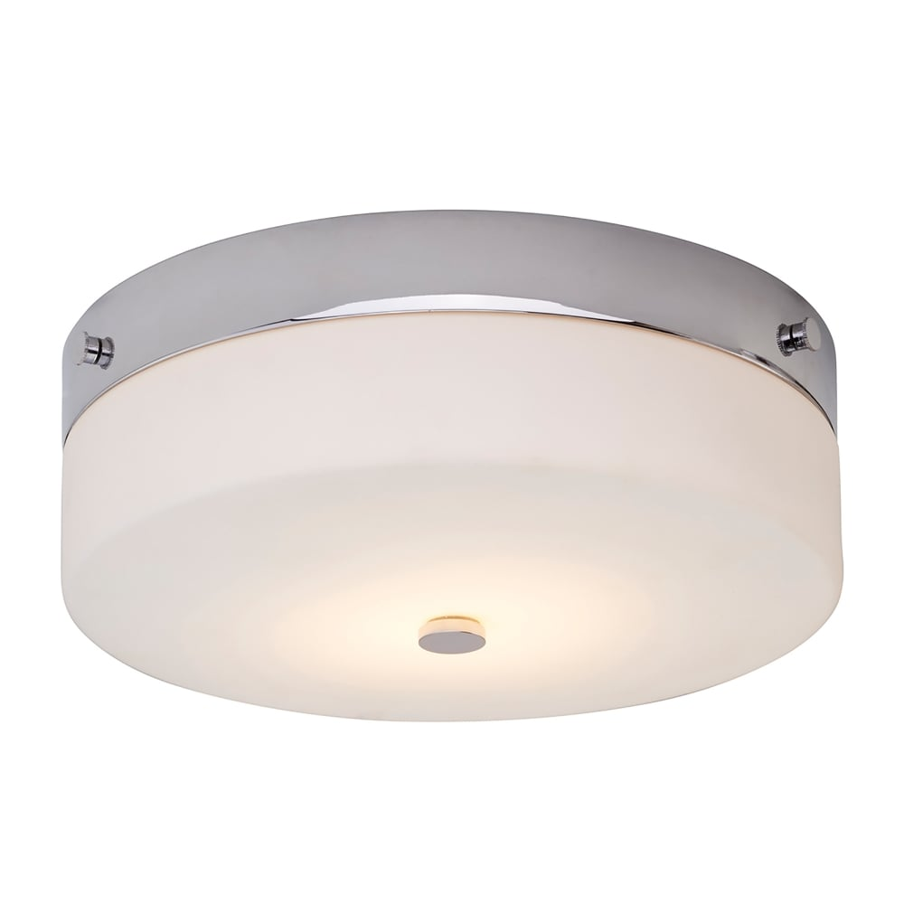 Elstead lighting tamar single led large flush bathroom ceiling tamar single led large flush bathroom ceiling light in polished chrome finish with opal glass mozeypictures Gallery