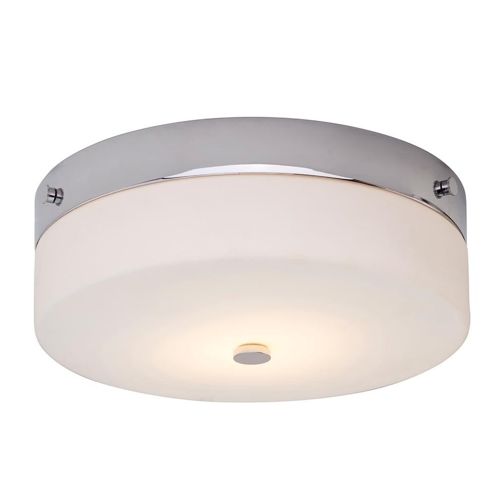 Elstead Lighting Tamar Single LED Large Flush Bathroom Ceiling Light ...