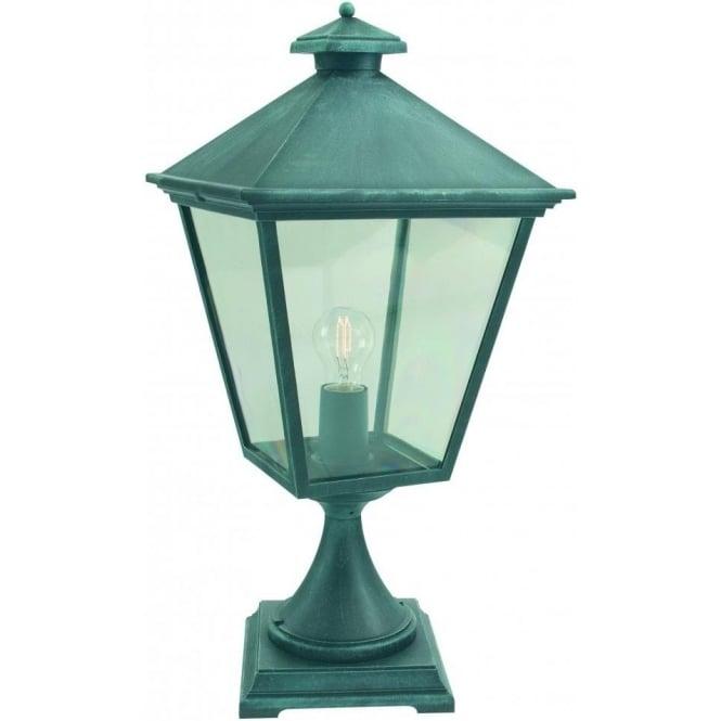elstead lighting turin outdoor post light in verdigris. Black Bedroom Furniture Sets. Home Design Ideas