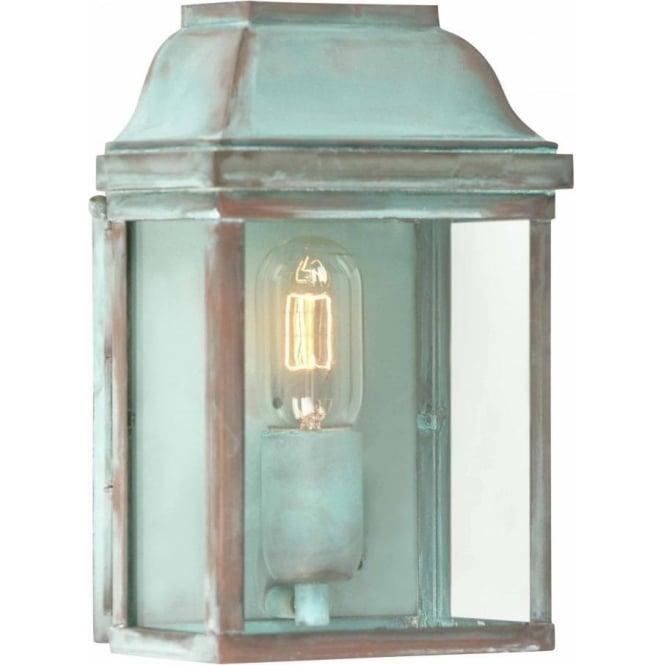 Elstead lighting victoria single light solid brass outdoor wall victoria single light solid brass outdoor wall lantern in verdigris mozeypictures Image collections
