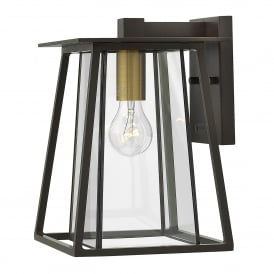 Walker Single Light Medium Wall Fitting in Buckeye Bronze Finish with Glass