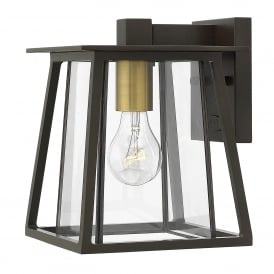 Walker Single Light Small Wall Fitting in Buckeye Bronze Finish with Glass