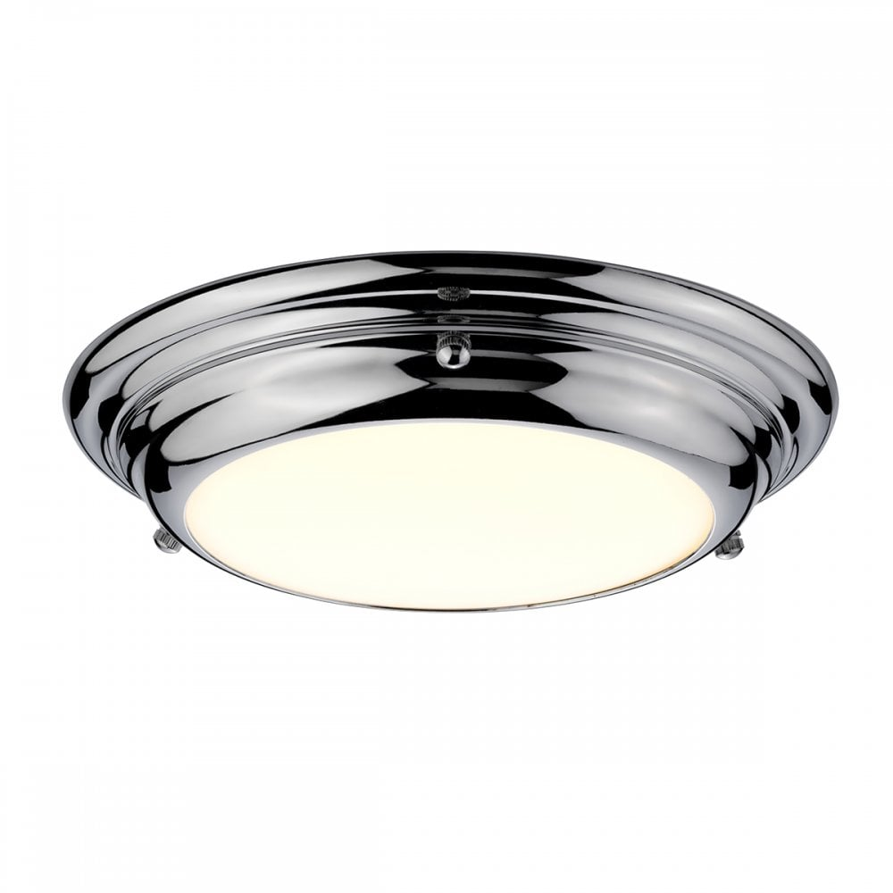 WELLAND/F/S PC Welland 12w LED Small Flush Ceiling Or Wall Fitting in  Polished Chrome Finish