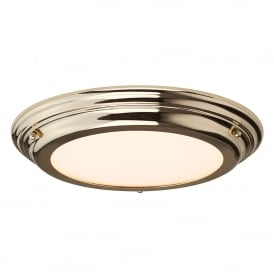 Welland Single LED Flush Ceiling Fitting in Polished Brass Finish