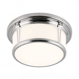 Woodward 2 Light Medium Flush Ceiling Fitting in Polished Chrome Finish