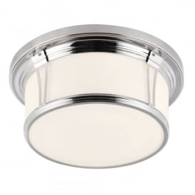 Woodward 3 Light Large Flush Ceiling Fitting in Polished Chrome Finish