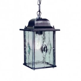 WX9 Wexford Chain Lantern in Black Silver Finish