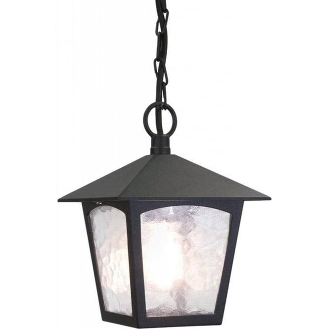 Elstead York Pedestal Lantern Light Black: Elstead Lighting York Single Light Outdoor Ceiling Pendant