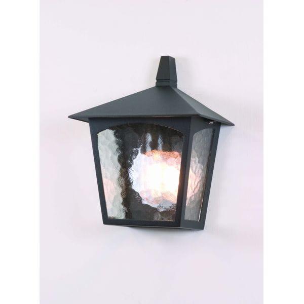 Elstead York Pedestal Lantern Light Black: Elstead Lighting York Single Light Outdoor Half Wall