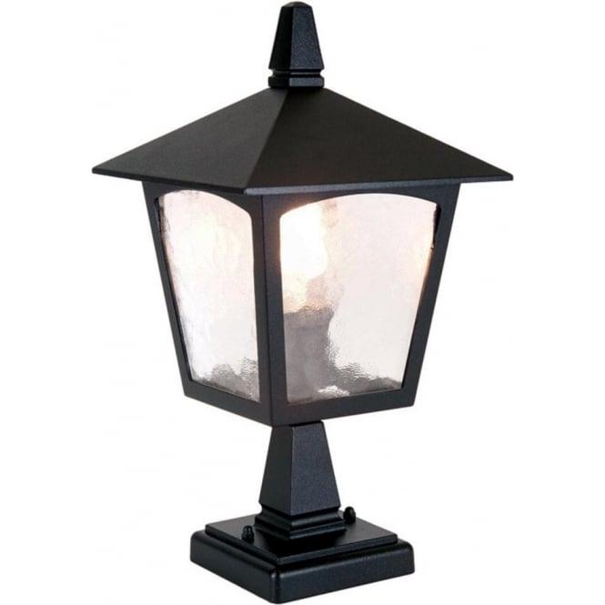 Elstead lighting york single light outdoor pedestal lantern in a york single light outdoor pedestal lantern in a black finish aloadofball Gallery
