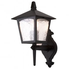 York Single Light Outdoor Wall Lantern in a Black Finish