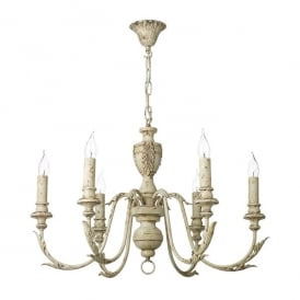 Emile 6 Light Ceiling Pendant In Rustic French Finish