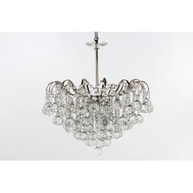 Emmie 5 Light Ceiling Pendant in Polished Chrome Finish With Clear Crystal Decoration