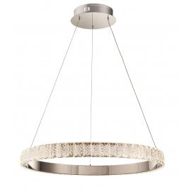 78702 Celeste LED Ceiling Pendant with Crystal and Polished Chrome
