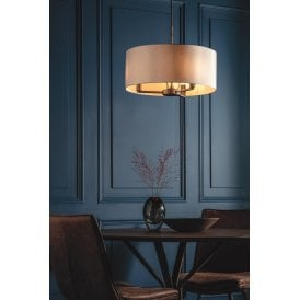 Daley 3 Light Ceiling Pendant with Antique Bronze finish