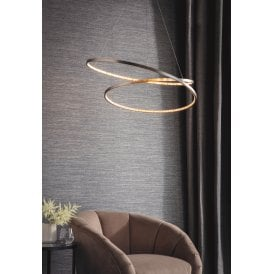 Eternity 40W LED Ceiling Pendant in Matt Nickel Finish