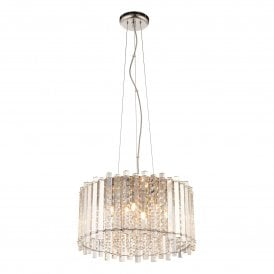 Hanna 5 Light Crystal Ceiling Pendant