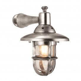 Rowling Single Light Wall Fitting in Tarnished Silver Finish