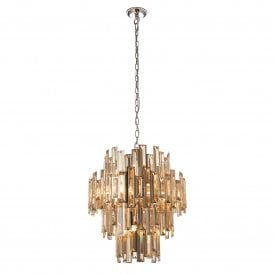 Viviana 12 Light Ceiling Pendant in Champagne and Chrome Finish