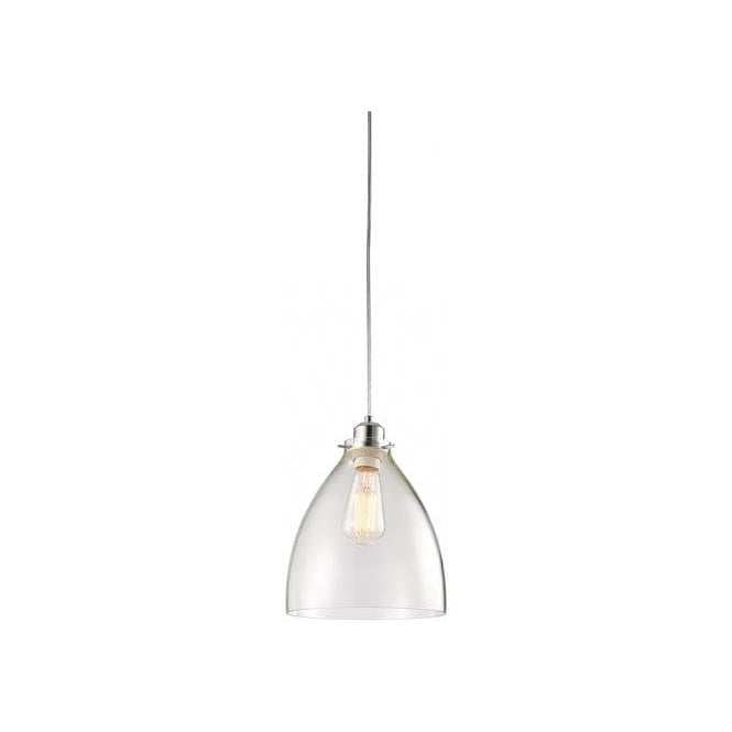 Endon Lighting 60874 Elstow Clear Glass Ceiling Shade Castlegate Lights