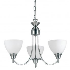 Alton 3 Light Ceiling Fitting In Satin Chrome Finish