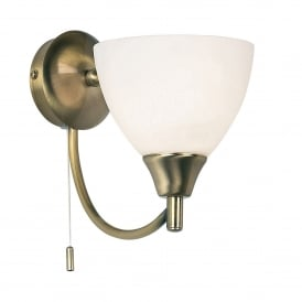 Alton Single Light Wall Fitting In Antique Brass Finish
