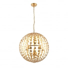 Alvah 5 Light Ceiling Pendant with Gold Leaf Finish
