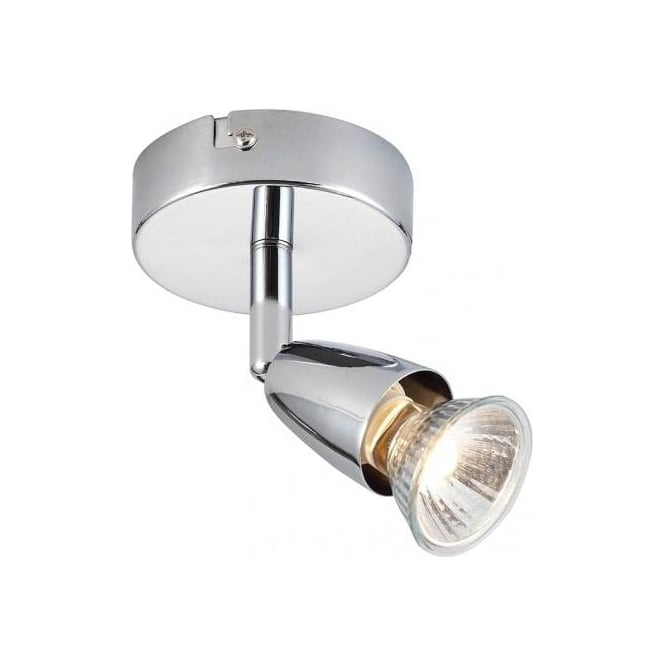 Endon Lighting Amalfi Single Light Ceiling Or Wall Spotlight Fitting In Polished Chrome Finish ...