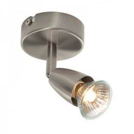 Amalfi Single Light Wall Or Ceiling Spotlight Fitting In Satin Nickel Finish