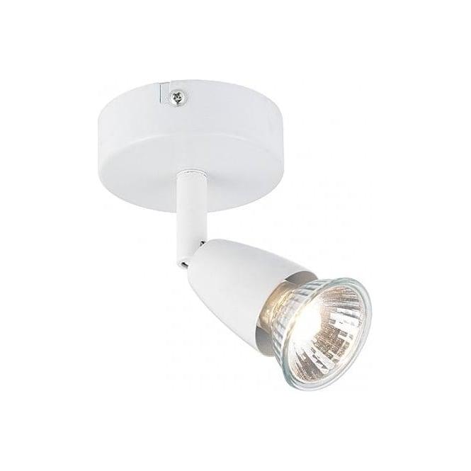 Endon Lighting Amalfi Single Light Wall Or Ceiling Spotlight Fitting In White Finish - Lighting ...