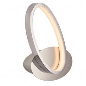 Aria 9W LED Wall Light in Polished Chrome Finish with White Diffuser