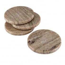 Askew Set of 4 Coasters in Natural Marble