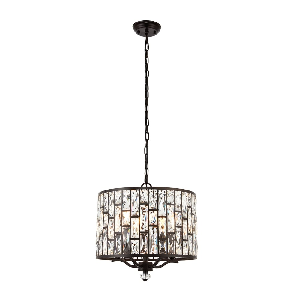 Endon Lighting Belle 5 Light Ceiling Pendant In Dark